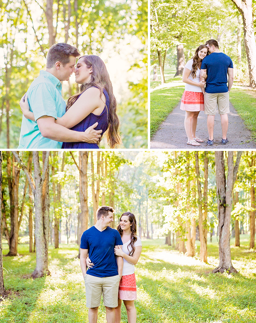 knoxville sunset lake engagement 1