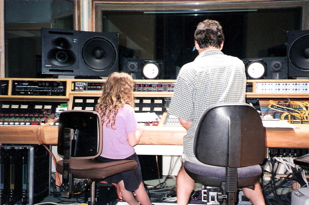 Helping out at Baker Street studios at age 7