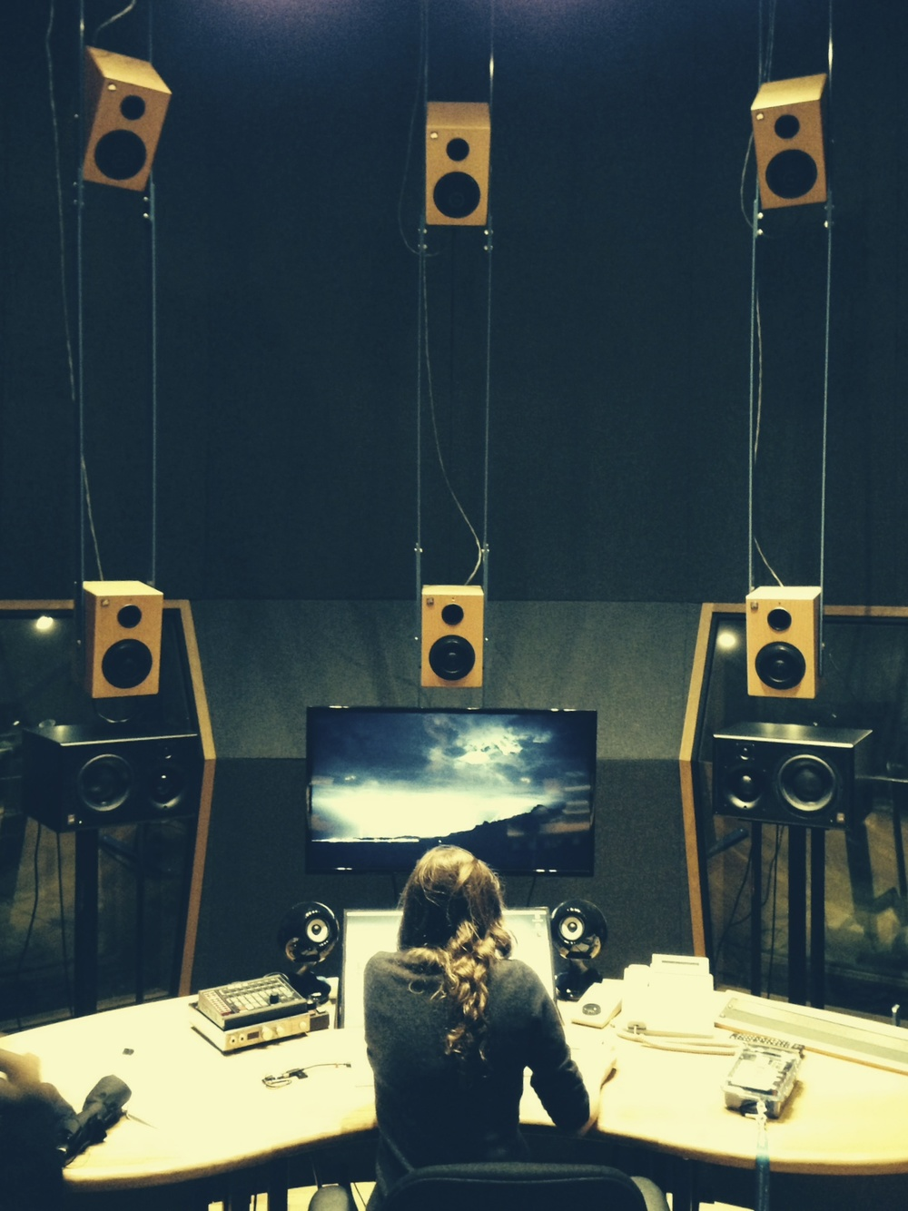 Mixing in McGill's 22.2 surround room