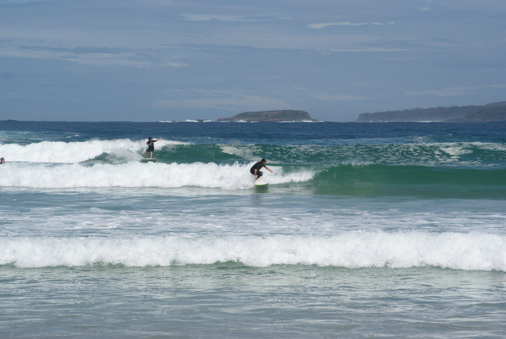 Surfs up on South Durras main beach