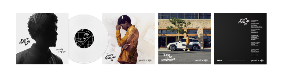 """We pressed Labrinth's version of """"Don't Fence Me In"""" on vinyl. To build excitement and awareness of the campaign, we distributed them to well-known musicians and other key influencers in the music and car industries."""