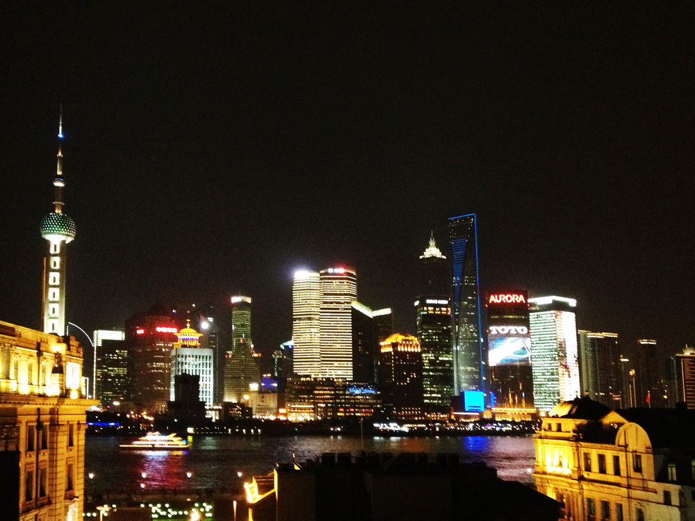 Shanghai skyline from Captain's Bar (photoed in 2012)