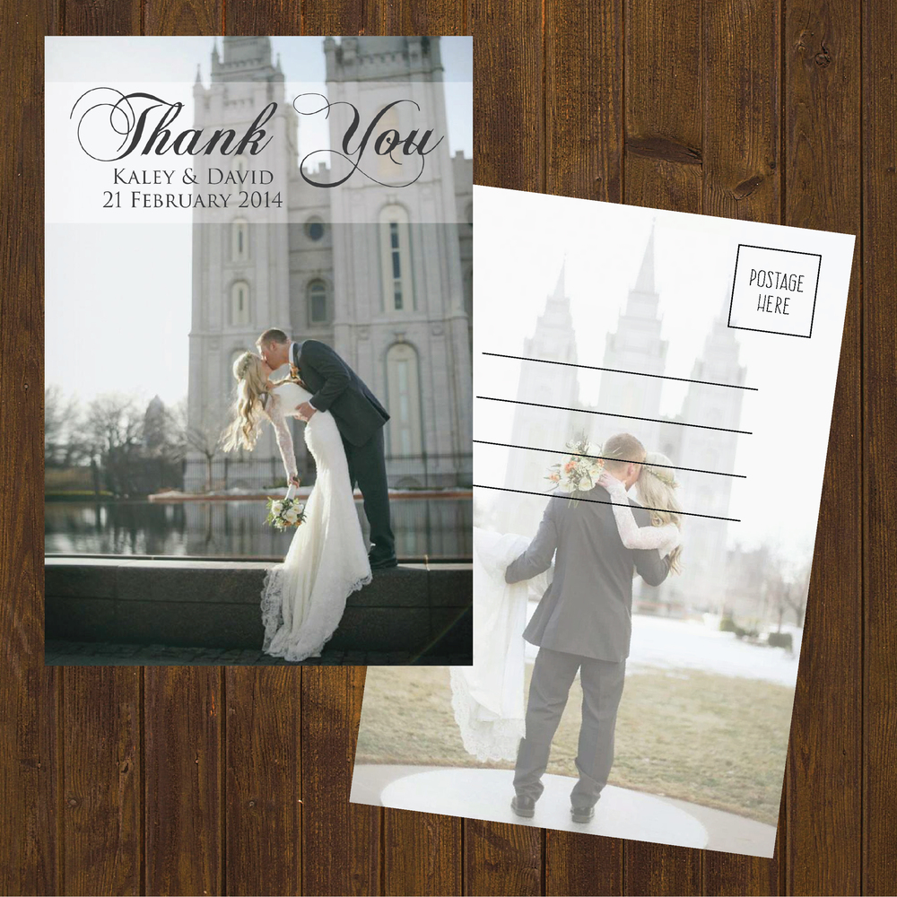 glitter wedding thank you cards - Wedding Thank You Cards
