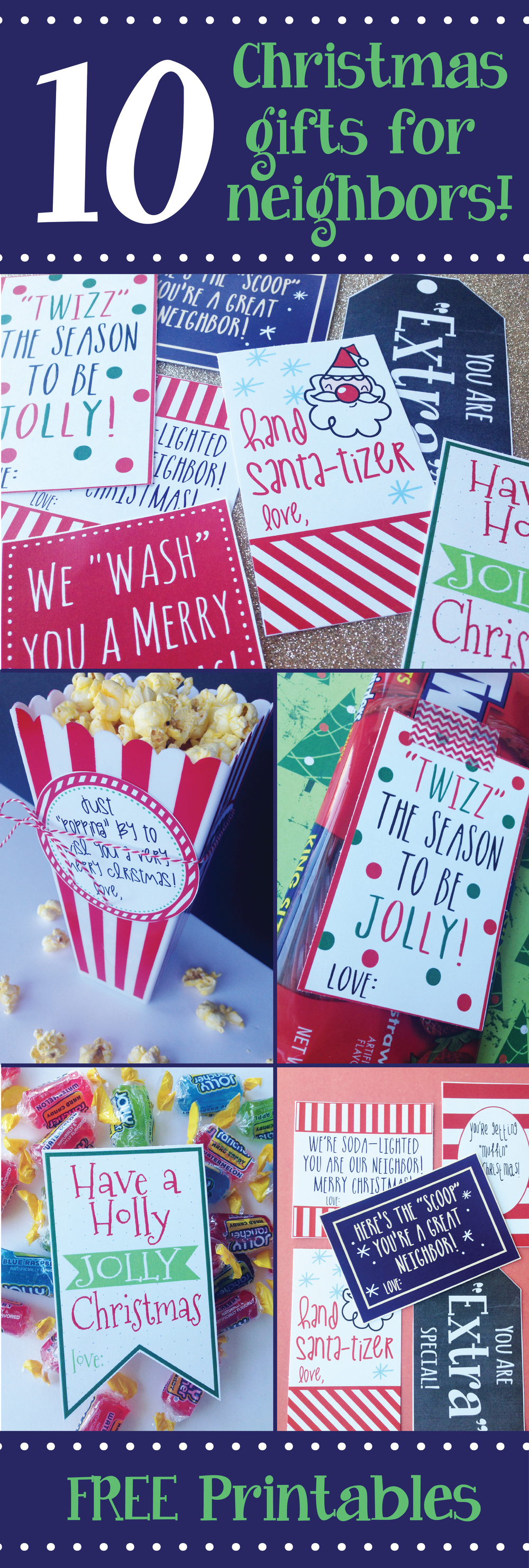 Adorable FREE Christmas Printables for neighbor gifts!!