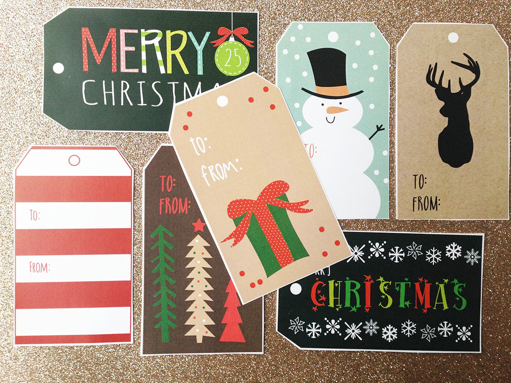 Adorable Christmas Tags from Hadley Designs