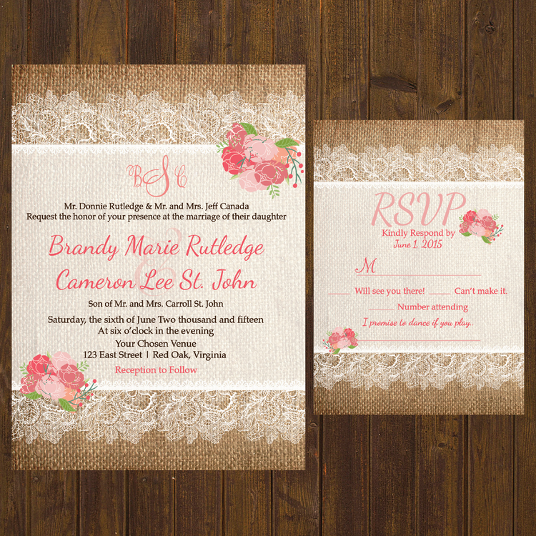 Hadley DesignsFloral – Custom Wedding Invitations Canada