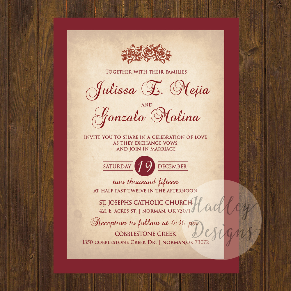 Professional Country Rustic Wedding Invitations | Lenq.me