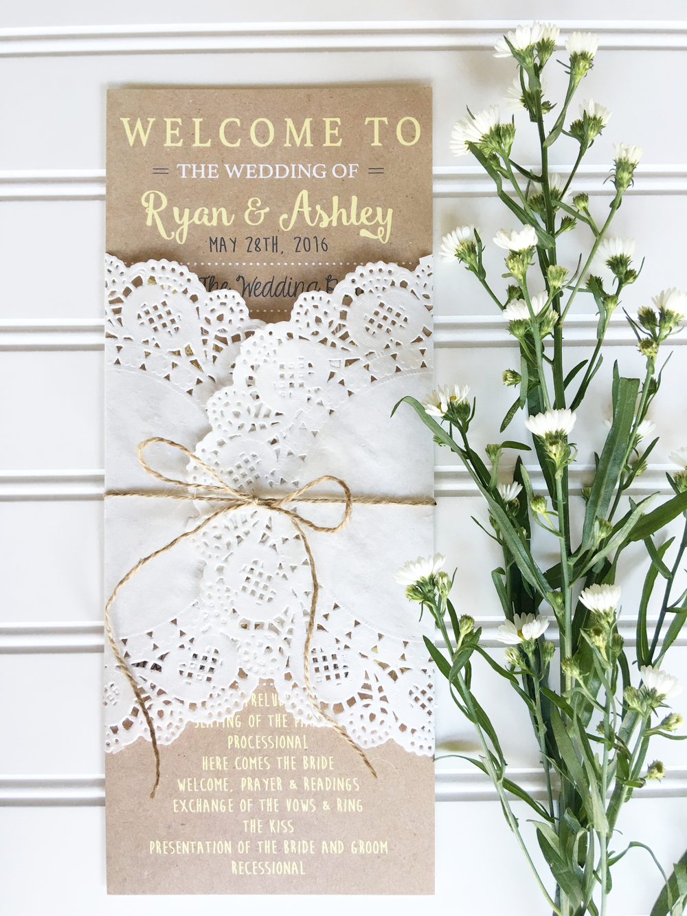 Hadley Designs Wedding Programs - How To