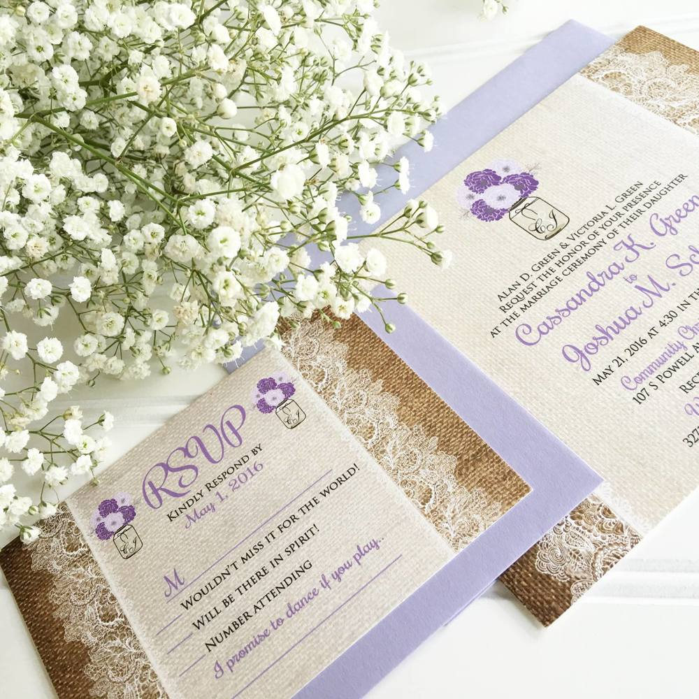 Burlap & Lace Wedding Invitation, Rustic Wedding Invitations, Elegant Wedding Invitations, Classic Wedding Invitation, Formal Wedding Invitations, Unique Wedding Invitation, Custom Wedding Invitation