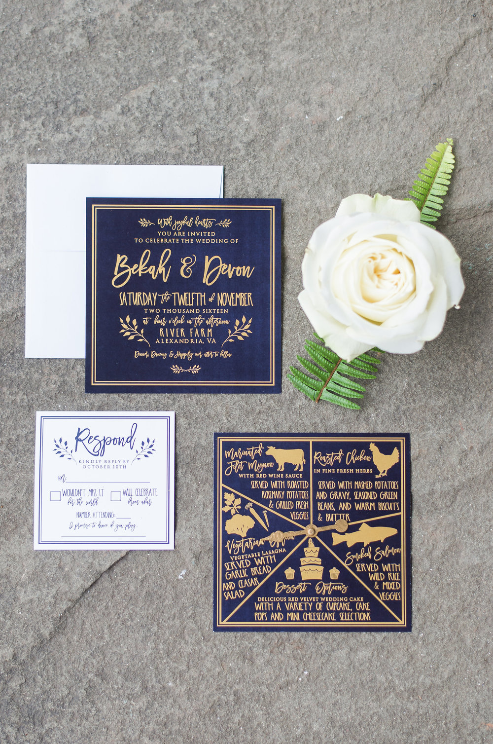 Navy & Gold Wedding Invitations, Elegant Wedding Invitations, Classic Wedding Invitations, Formal Wedding Invitations, Traditional Wedding Invitations, Navy Wedding Invitations