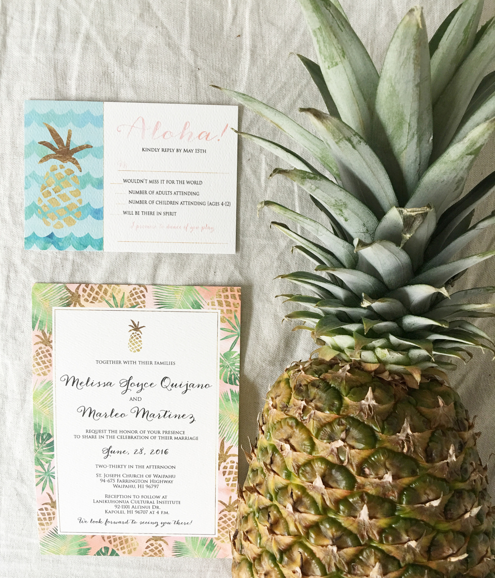 Tropical Wedding Invitation, Pineapple Wedding Invitation, Elegant Wedding Invitation, Classic Wedding Invitation, Formal Wedding Invitations, Traditional Wedding Invitation, Unique Wedding Invitation