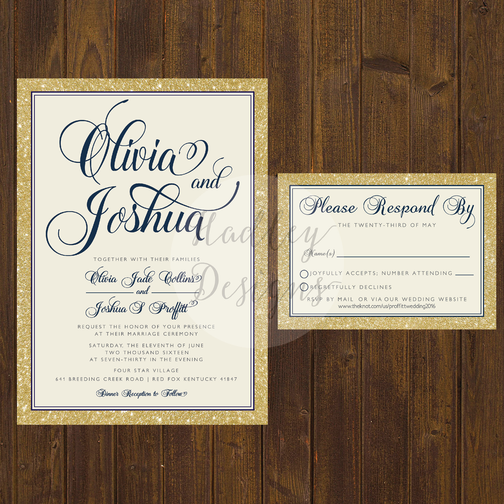 Elegant Wedding Invitations, Classic Wedding Invitations, Simple Wedding  Invitations, Formal Wedding Invitations,