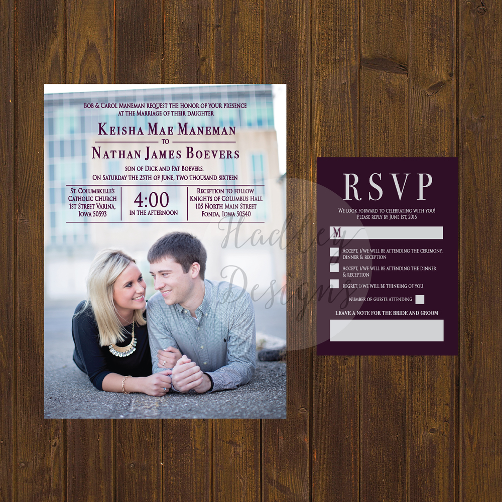 Photo Wedding Invitations, Engagement Photo Wedding Invitations, Picture Wedding Invitations, Formal Wedding Invitations, Traditional Wedding Invitations, Unique Wedding Invite, Custom Wedding Invite