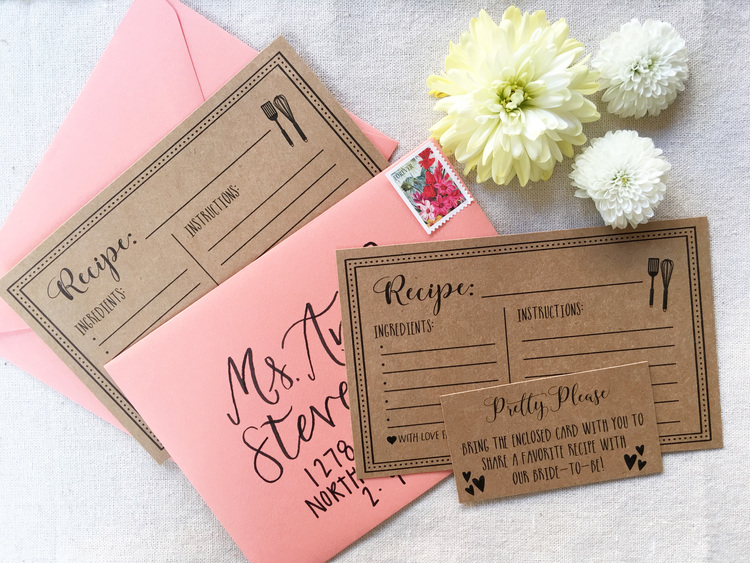 Hadley designs free printable recipe cards for yourself or the bride to be moh of the year then by sending out this adorable printable with your bridal shower invitations for guests to solutioingenieria Image collections