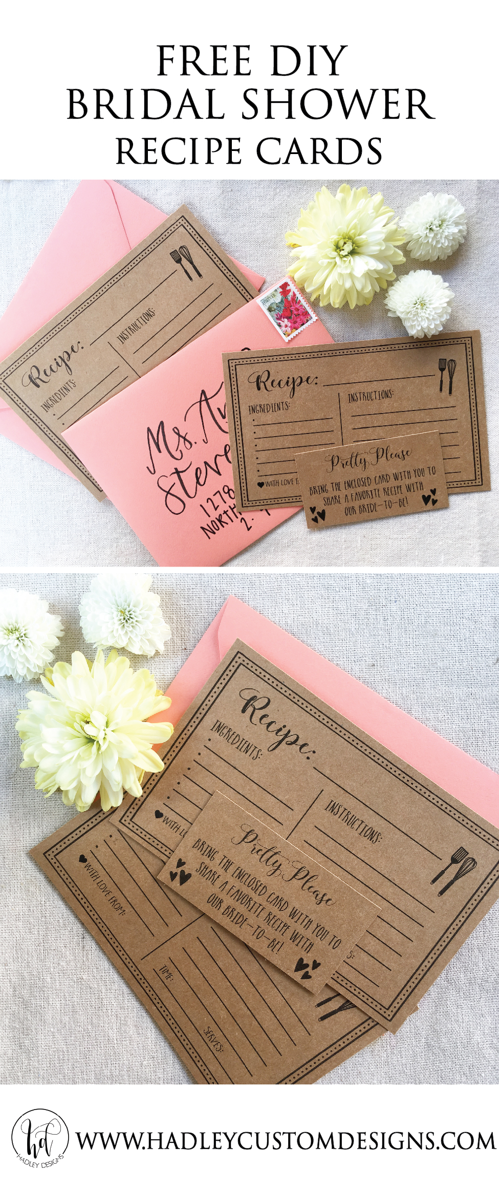 for an added rustic touch print this bw file on kraft paper