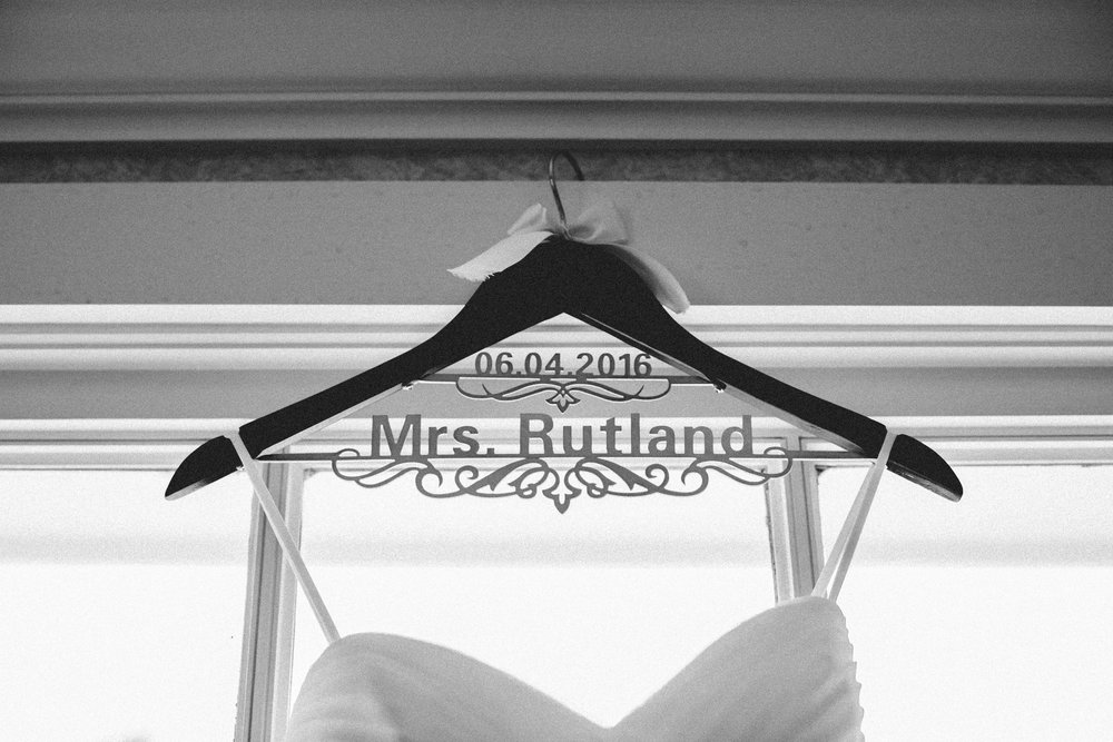 The soon to be Mrs. Rutland - this bride was all about the details!