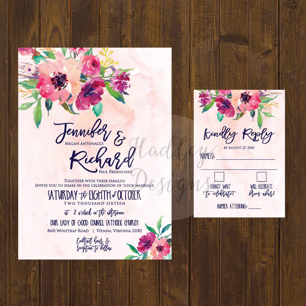 Floral Wedding Invitations, Flower Wedding Invitations, Fresh Wedding Invitations, Formal Wedding Invitations, Traditional Wedding Invitations, Unique Wedding Invitations, Custom Wedding Invitation