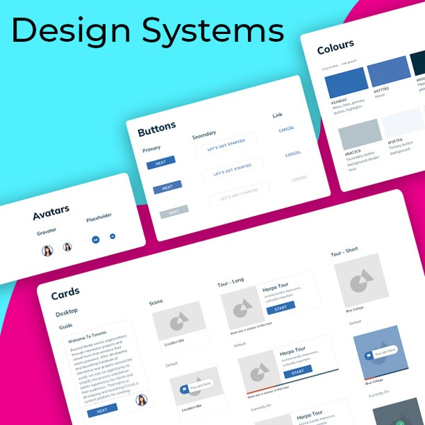 """After rolling out our design system, creating mockups and experimenting with designs is super fast."" Don't miss our post on design systems (link in bio) #ux #design #digitalmarketing #webdesign"