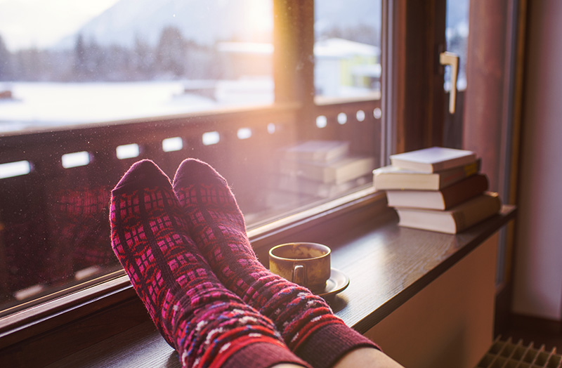 Heat yourself, instead of the whole house - Heating your body is more efficient than heating your entire home. Seal off any unused areas, invest in a portable electric blanket and stash socks in every room for quick access. You'll save on bills too!And finally, stay hydrated, humble and hopeful. If winter comes, can spring be too far behind?