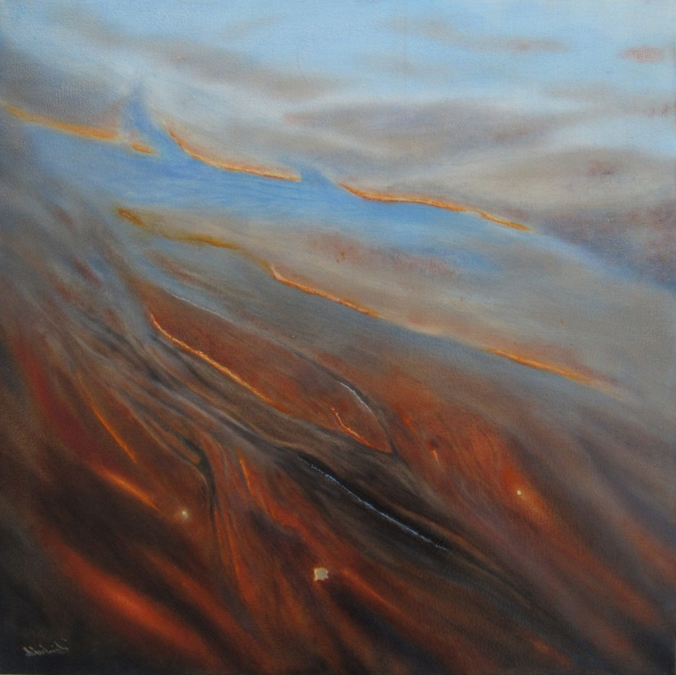 "rivulet <span class=""sizes"">20x20 oil on canvas</span>"