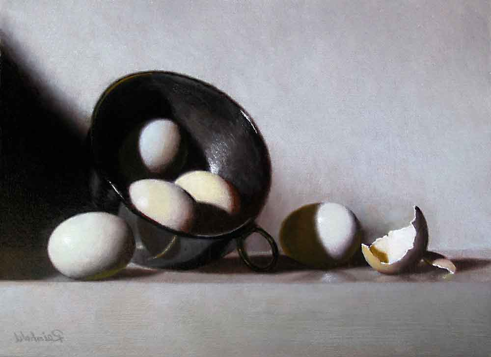 "break an egg  <span class=""sizes-inline"">9 x 12 oil on linen</span><span class=""sold"">•</span>"