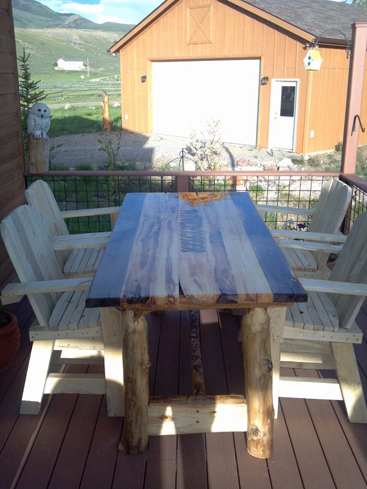 Rustic Patio Set
