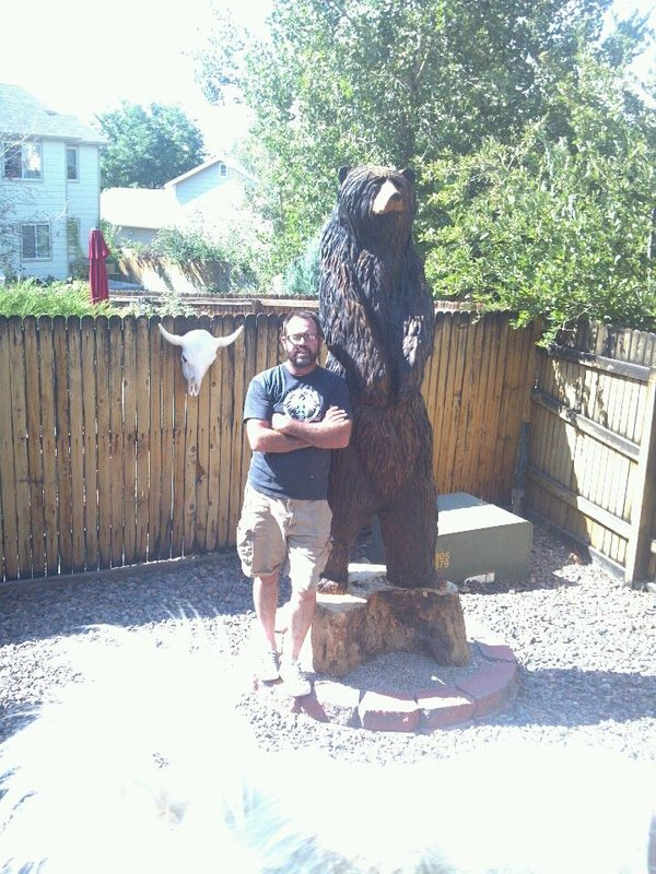 Life-sized Chainsaw Carved Bear