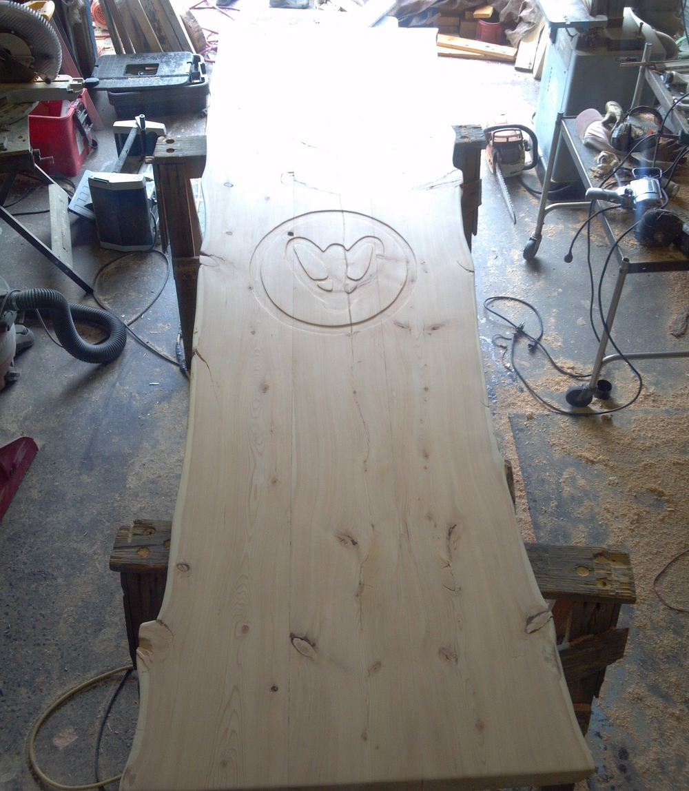 Douglas Fir Live-Edged Slab Conference Table