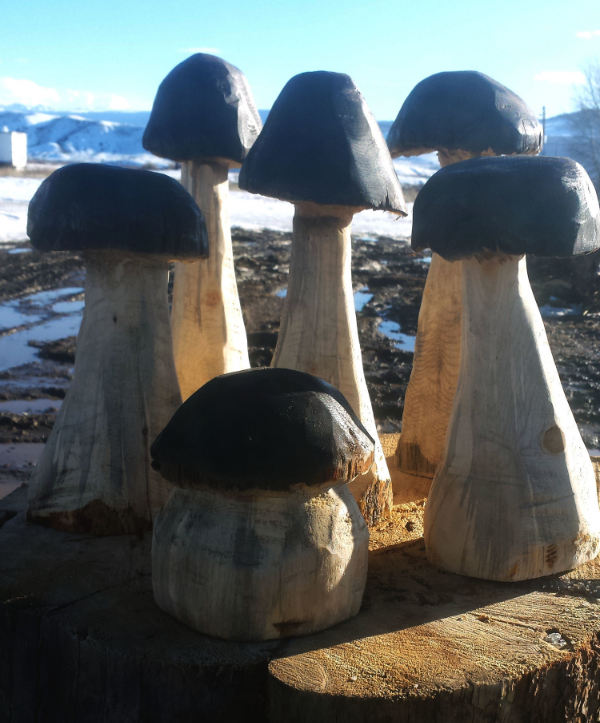 Carved Mushrooms - Now available for purchase!  Head on over to Buy .