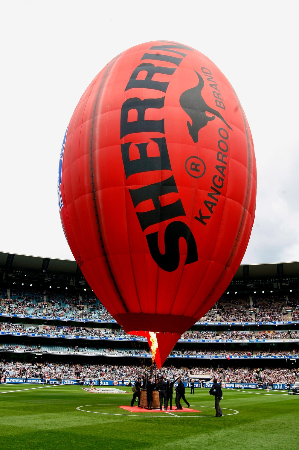 The Flying Footy at the 2010 AFL Grand FInal