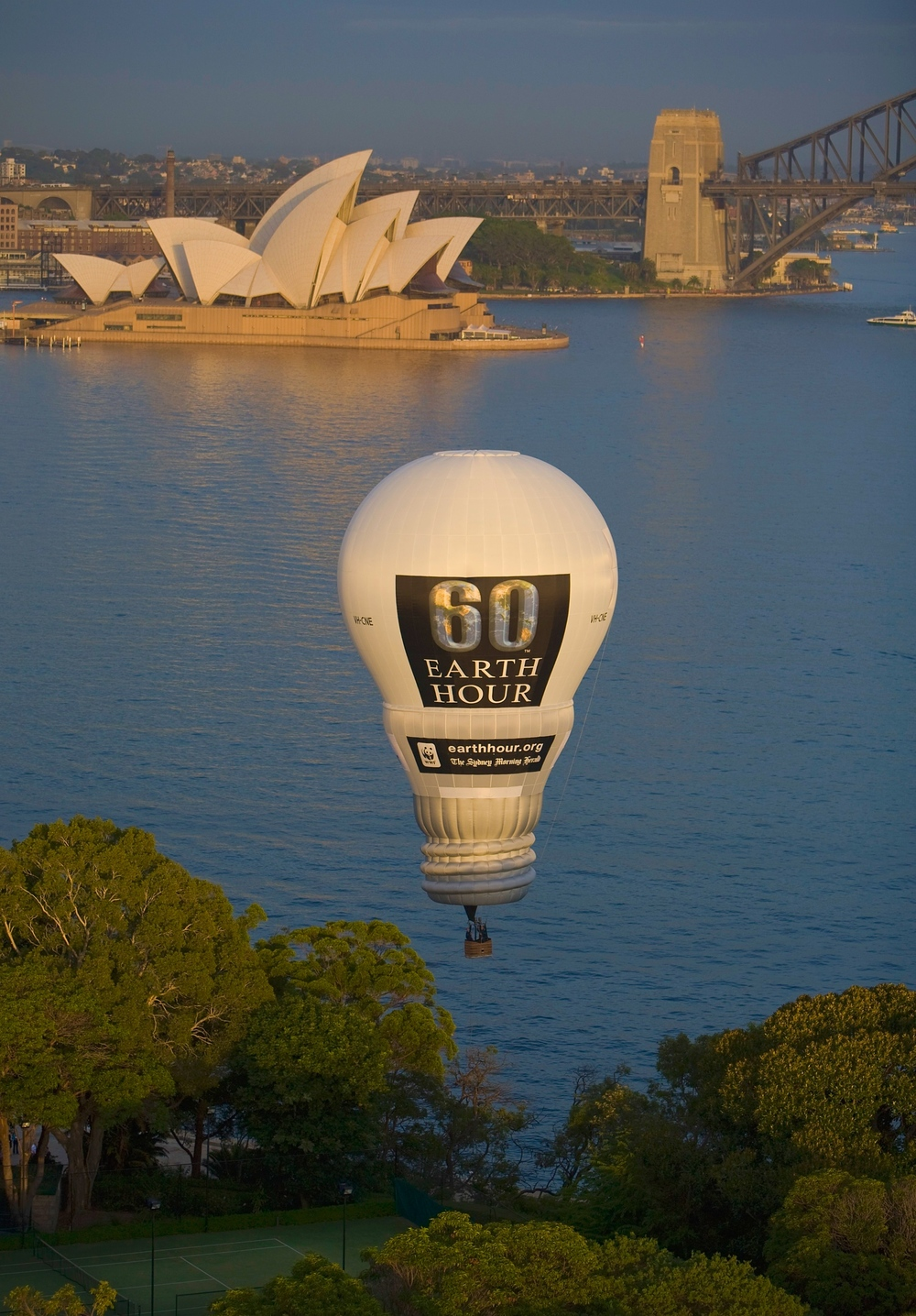 Our advertising 'Lightbulb' hot air balloon, used to promote Earth Hour.