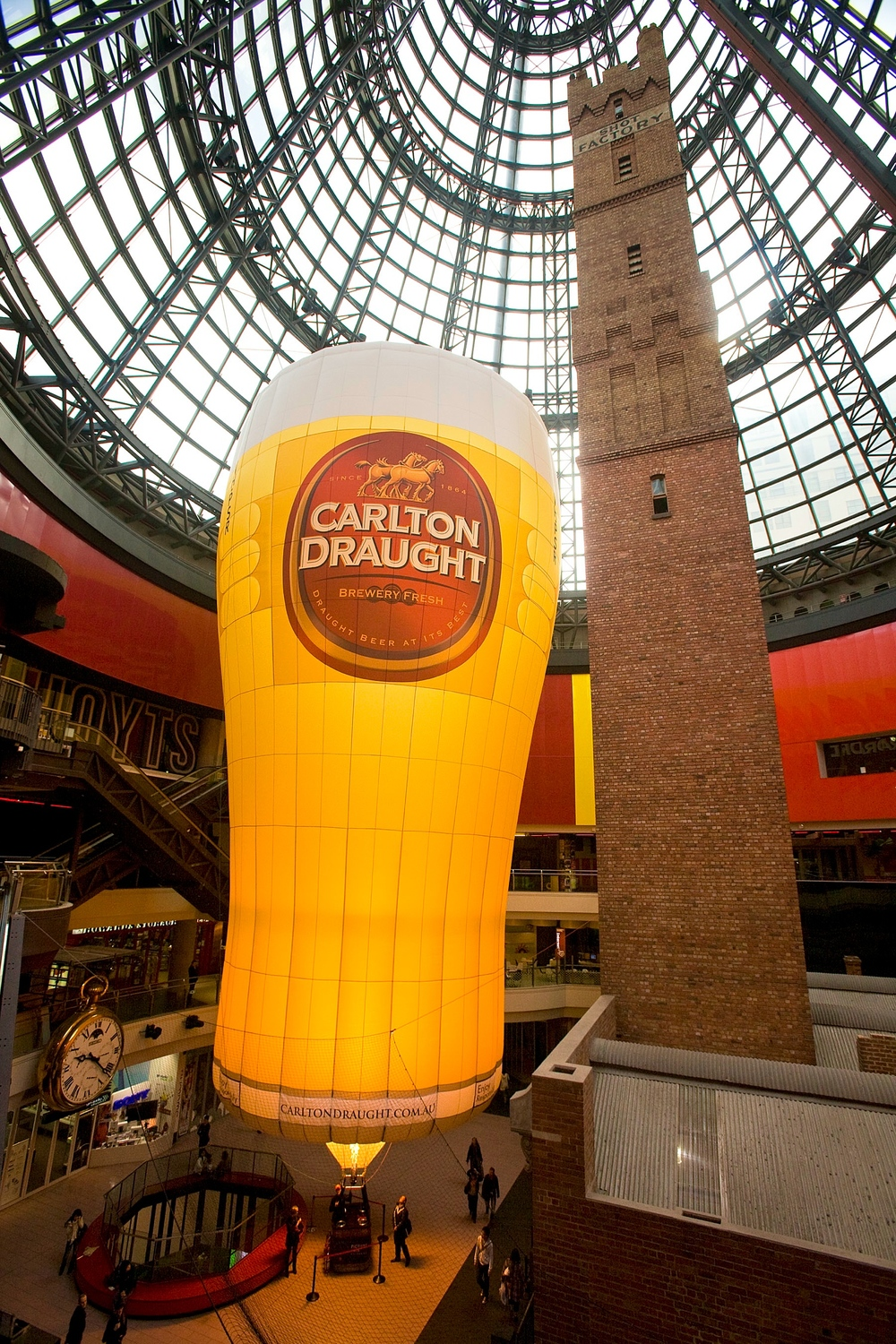 "The Carlton Draught ""Pot"" inside Melbourne Central."