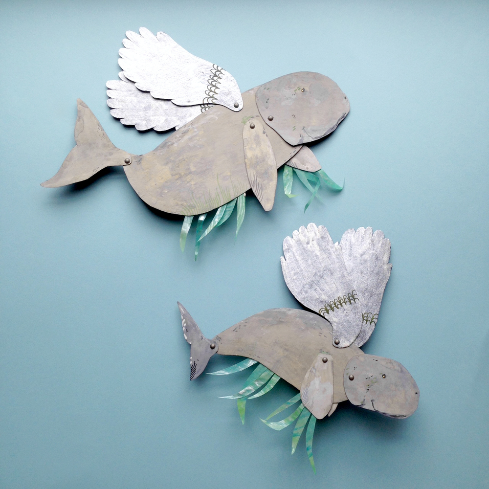 handmade paper dugong by emma kidd benconservato for falling for florin