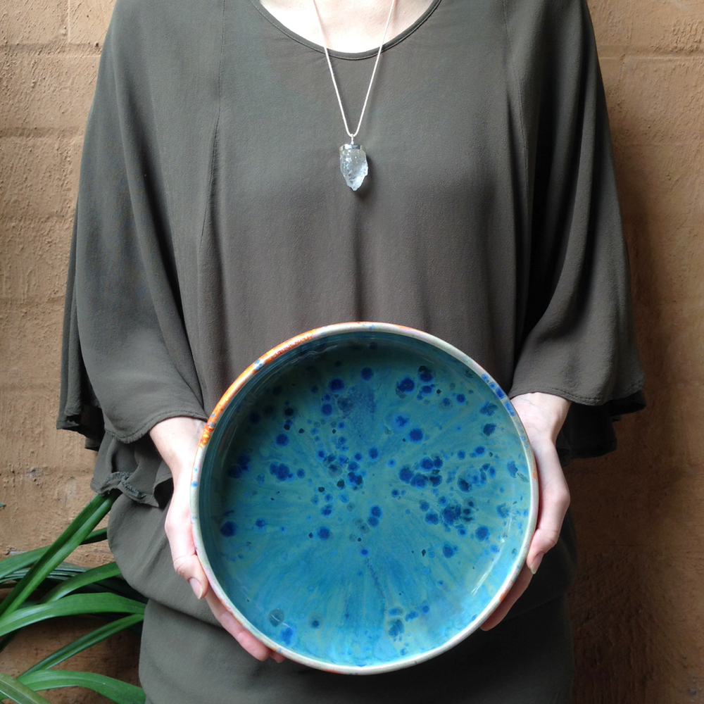 elnaz nourizadeh handmade ceramic platter falling for florin