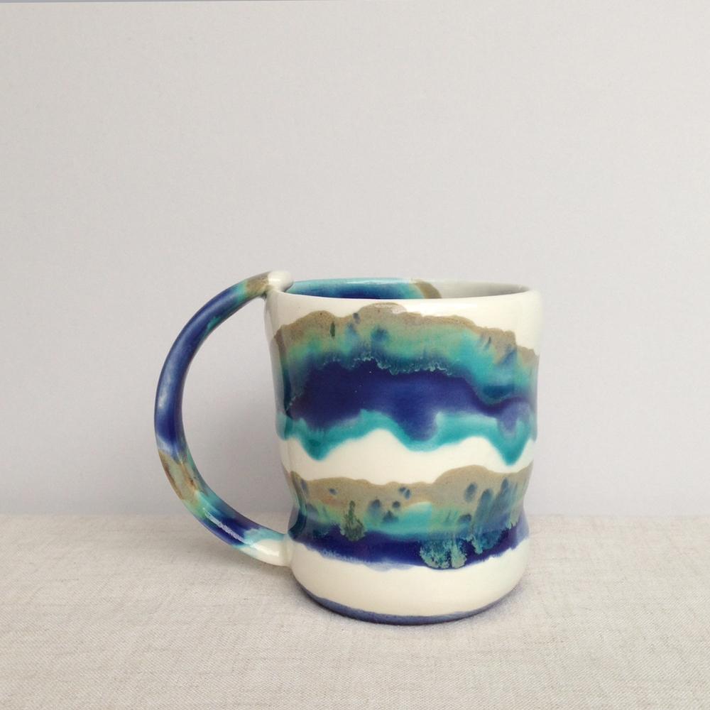 elnaz nourizadeh handmade ceramic island mug falling for florin