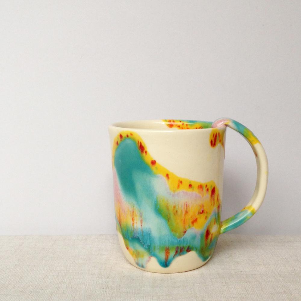 elnaz nourizadeh handmade ceramic sky mug falling for florin 1