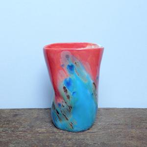 elnaz nourizadeh handmade ceramic vase falling for florin