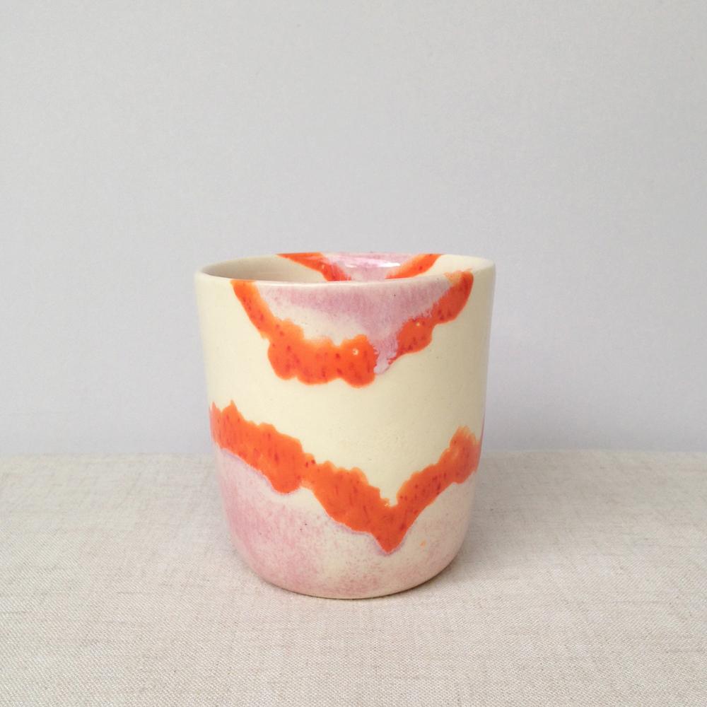 elnaz nourizadeh handmade ceramic tumbler falling for florin