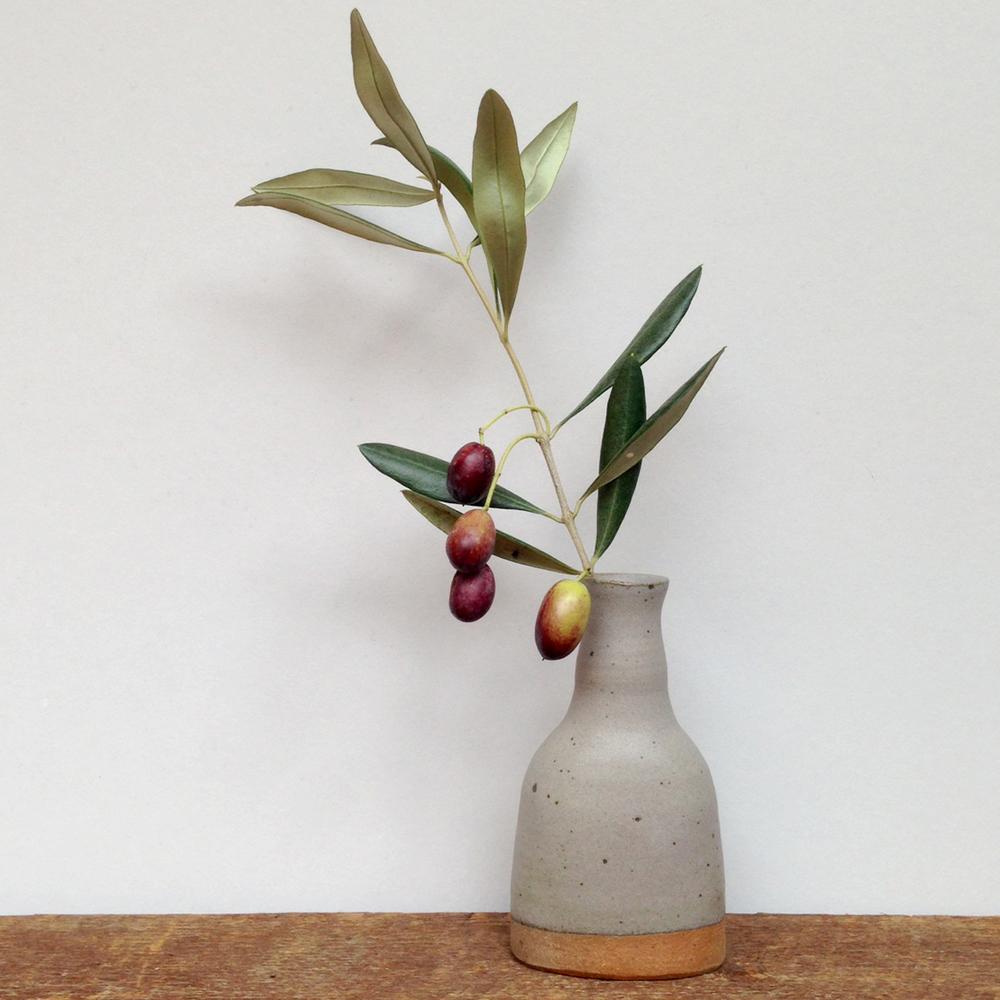 lene jakobsen handmade ceramic bottle vase fallingforflorin