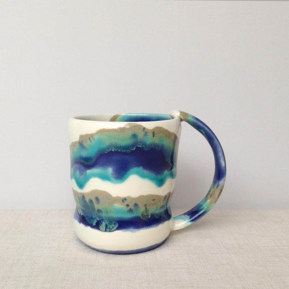 elnaz nourizadeh handmade ceramic mug falling for florin