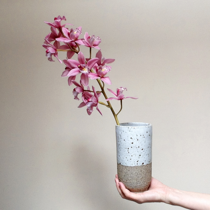 lisa peri handmade stoneware vase falling for florin