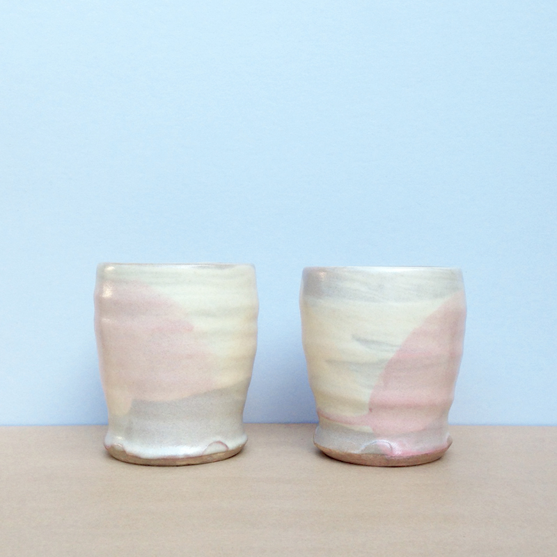 peta armstrong handmade ceramic cups falling for florin