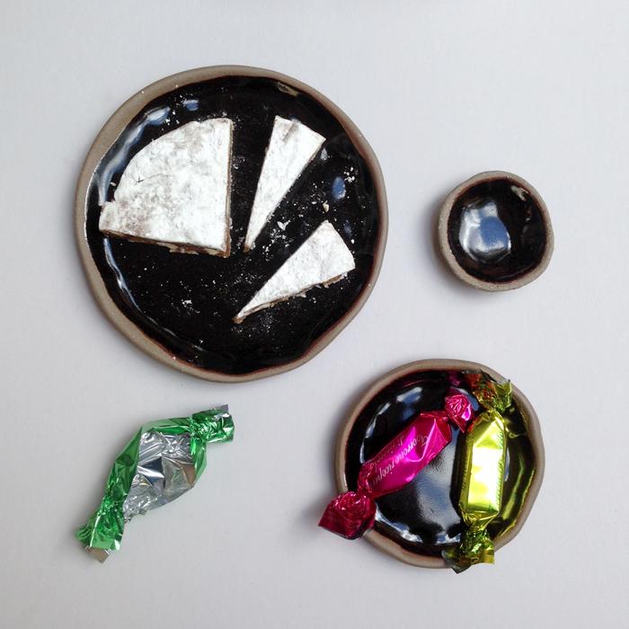 lisa peri handmade ceramic plate falling for florin