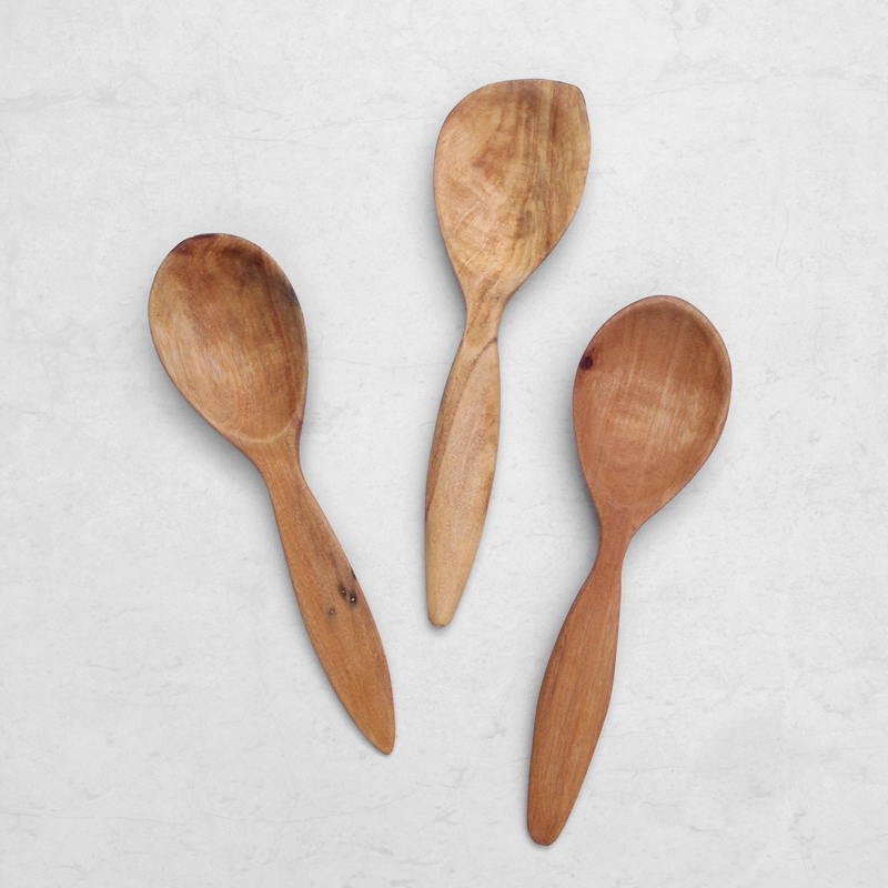 handcarved reclaimed timber spoons falling for florin