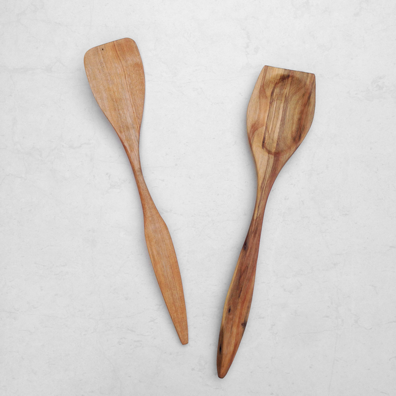 handcarved reclaimed timber spatula falling for florin
