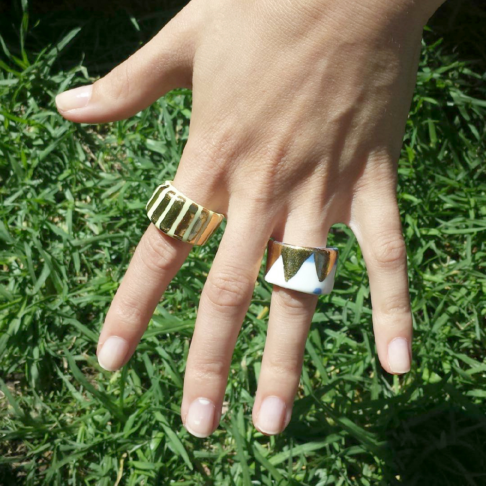 ruby pilven handmade porcelain rings falling for florin
