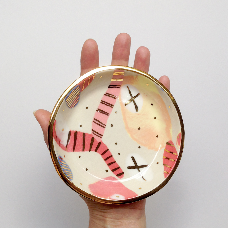 ruby pilven nerikomi porcelain lustre dish falling for florin