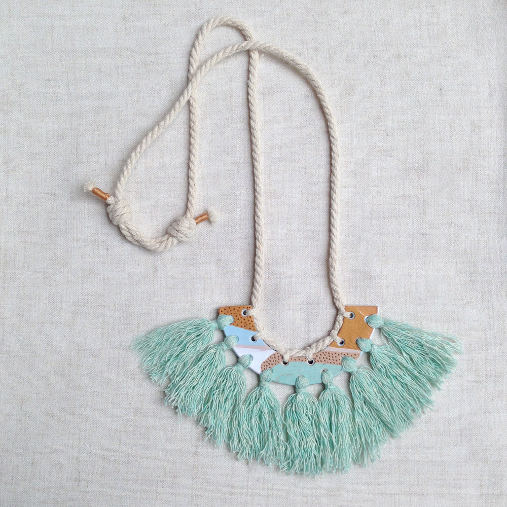 kelaoke polymer clay tassel necklace falling for florin big green b.jpg