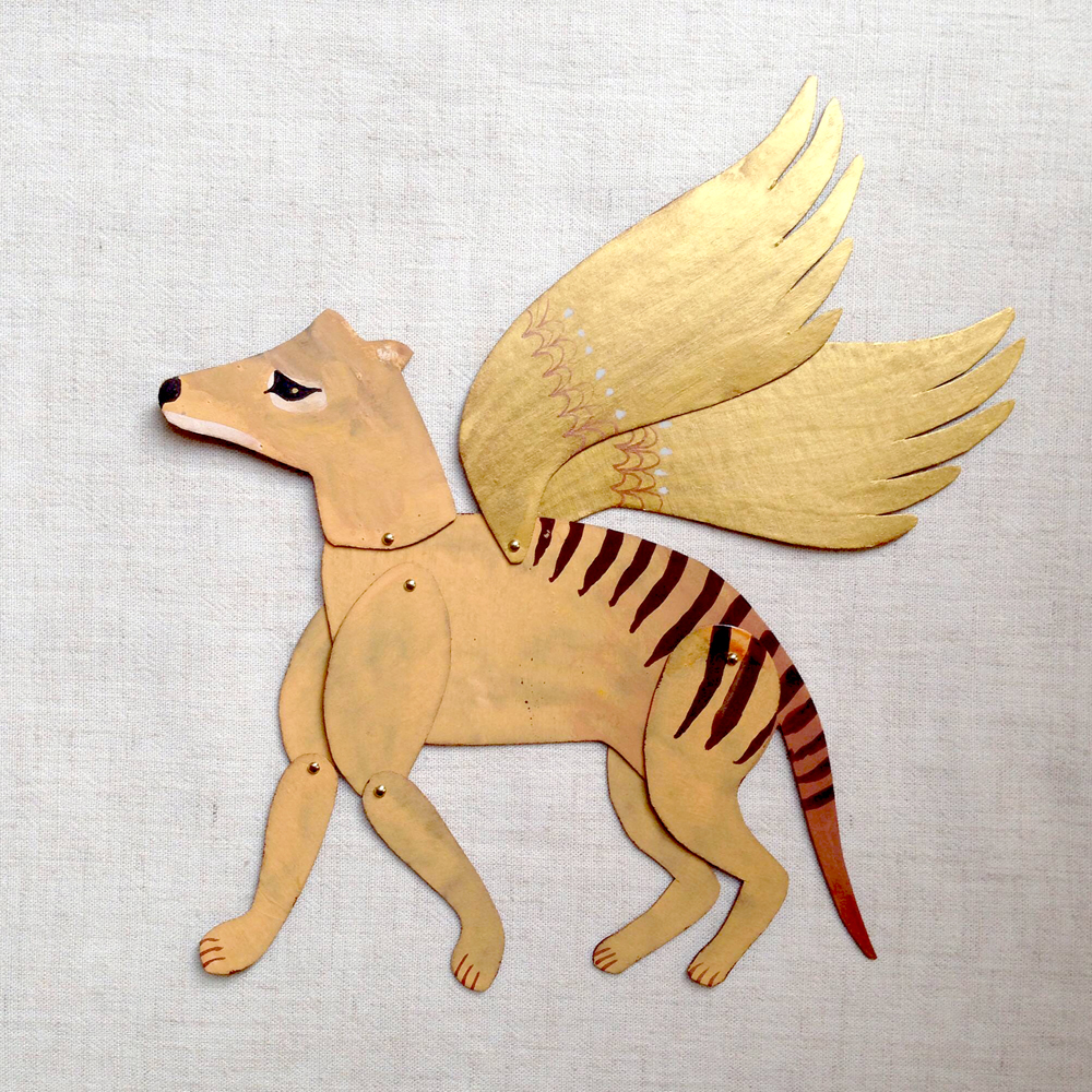 benconservato paper art winged thylacine falling for florin