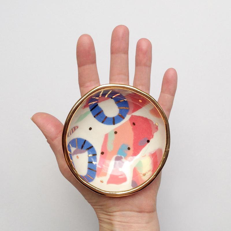 ruby pilven handmade porcelain dish falling for florin